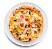 Pizza owoce morza Zdjęcia Royalty Free