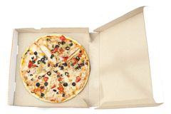 Pizza in package Stock Photography