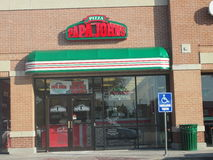 PIZZA PAPA JOHN'S building Plano Texas Royalty Free Stock Image