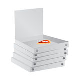 Pizza paper boxes vector Royalty Free Stock Photography