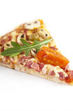 Pizza. Part of classical pizza with colorful stuffing Royalty Free Stock Image