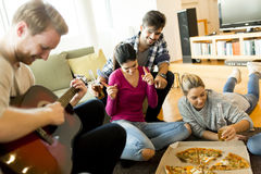 Pizza party Royalty Free Stock Image