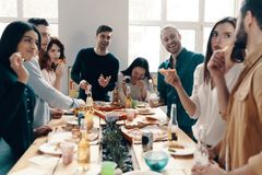 Pizza party. stock images