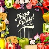 Pizza party Stock Photos