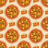 Pizza pattern Royalty Free Stock Photography