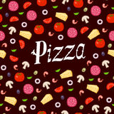 Pizza pattern Royalty Free Stock Images