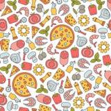 Pizza pattern royalty free illustration