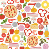 Pizza pattern Stock Image