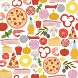 Pizza pattern Stock Image