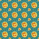 Pizza pattern Stock Photos