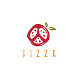 Pizza in peace symbol form vector design Stock Photo
