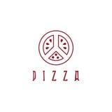 Pizza in peace symbol form vector design Stock Photos