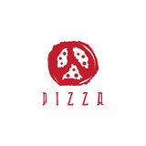 Pizza in peace symbol form vector design Stock Photography