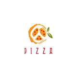 Pizza in peace symbol form vector design Royalty Free Stock Image
