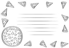 Pizza pecipe Royalty Free Stock Photography