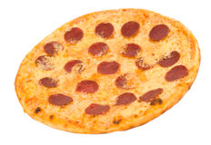 Pizza with pepperoni Royalty Free Stock Image