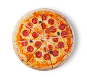 Pizza pepperoni. Stock Images