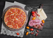 Pizza pepperoni food photo Royalty Free Stock Photos