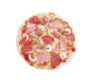 Pizza Pepperoni. Isolated on white background Stock Photography