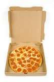 pizza pepperoni pudełkowata cała Obrazy Stock