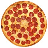 Pizza pepperoni. Pizza on the white background Royalty Free Stock Images