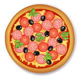 Pizza pepperoni Royalty Free Stock Photography