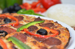Pizza with peppers Royalty Free Stock Photography