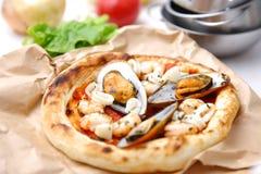 Pizza pescatore Lizenzfreies Stockfoto