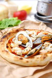 Pizza pescatore Stock Photography