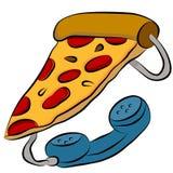 Pizza Phone Hotline Royalty Free Stock Image