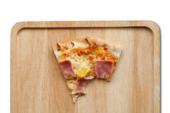 Pizza, piña, jamón y queso hawaianos Imágenes de archivo libres de regalías