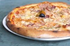 Pizza picante Fotografia de Stock Royalty Free