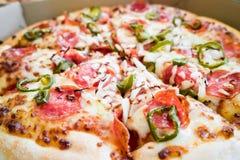 Pizza picante imagen de archivo