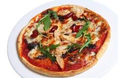 Pizza picante da galinha Imagens de Stock