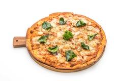 pizza picante do camarão (Tom Yum) fotografia de stock royalty free