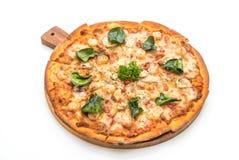 pizza picante do camarão (Tom Yum) imagens de stock royalty free