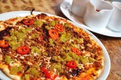 Pizza piccante Fotografia Stock
