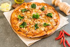 pizza piccante del gamberetto (Tom Yum) fotografia stock libera da diritti