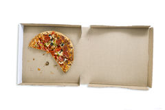 Pizza pie in box Stock Images