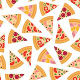 Pizza pieces vector seamless pattern. Pizza flat set. Flat style. Vector illustration vector illustration
