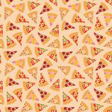 Pizza pieces vector seamless pattern.Pizza slice. Flat style. Vector illustration. Pizza pieces vector seamless pattern. Pizza slice. Flat style. Vector royalty free illustration