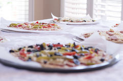 Pizza pies on tabletop Stock Photography