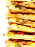 Pizza piles Royalty Free Stock Photography