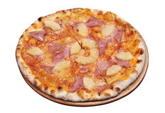 Pizza with pineapple and ham Royalty Free Stock Image