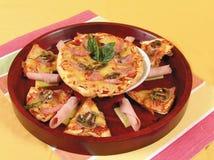 Pizza pita Lizenzfreies Stockfoto