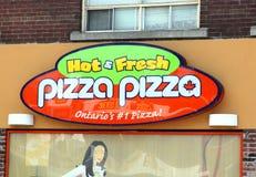 Pizza-Pizza-Zeichen stockfotos