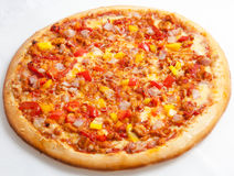Pizza, pizzas European and American cuisine Stock Image
