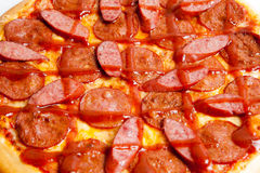Pizza, pizzas European and American cuisine Royalty Free Stock Photos