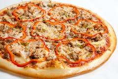 Pizza, pizzas europeas y cocina americana foto de archivo libre de regalías