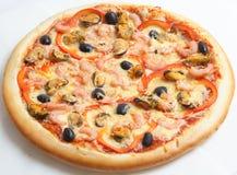 Pizza, pizzas europeas y cocina americana imagen de archivo libre de regalías